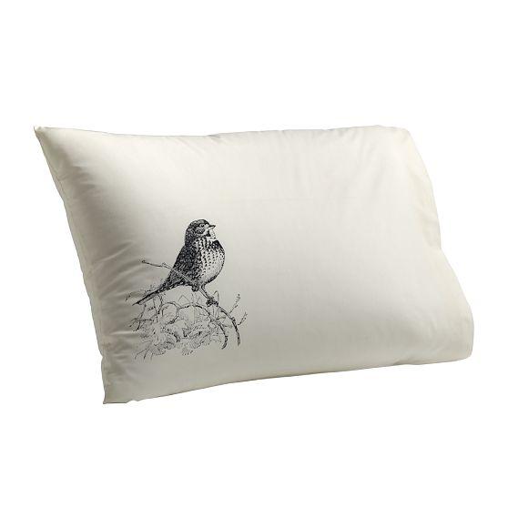 Vintage bird pillowcase